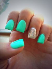 25+ best ideas about Teal Nail Designs on Pinterest ...