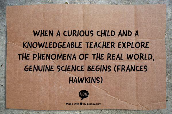 When a curious child and a knowledgeable teacher explore