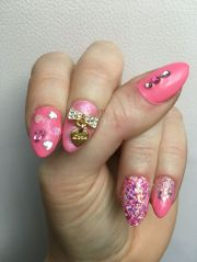 1000 ideas pink bling nails