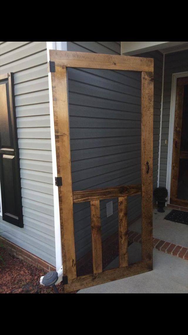 Pallet screen door  Outside  deck  Pinterest  Pallet