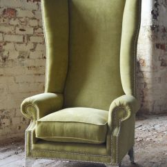 Turquoise Wingback Chair Portable Study Modern Queen Anne Chesterfield Wing Arm Extra High Back Lime Green Velvet | Furniture ...