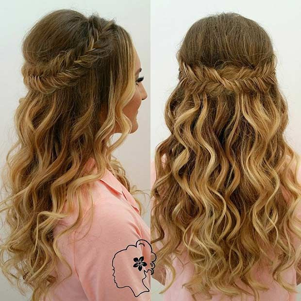 The 25 Best Curly Braided Hairstyles Ideas On Pinterest Half