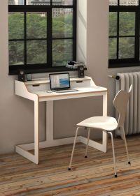 Modern Desks for Small Spaces:White Wood Modern Desk For ...