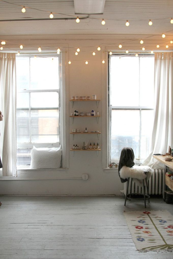 17 Best ideas about Apartment String Lights on Pinterest  String lights dorm College dorm