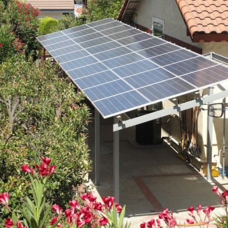 Solar Panels Provide A Shady Patio Area If You Dont Have