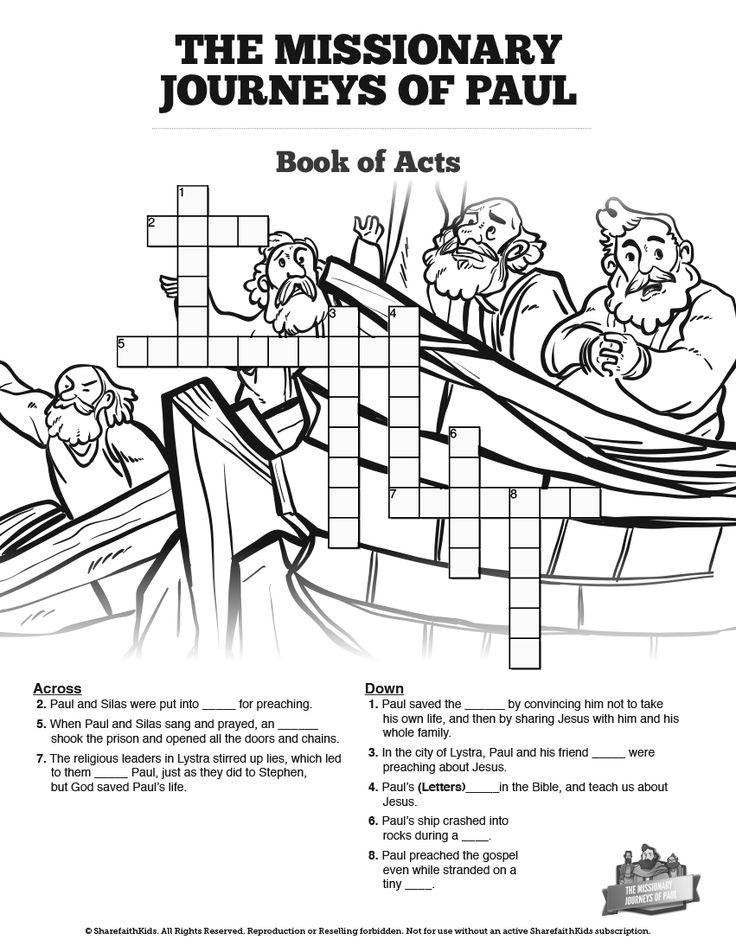 121 best Top Sunday School Crossword Puzzles images on