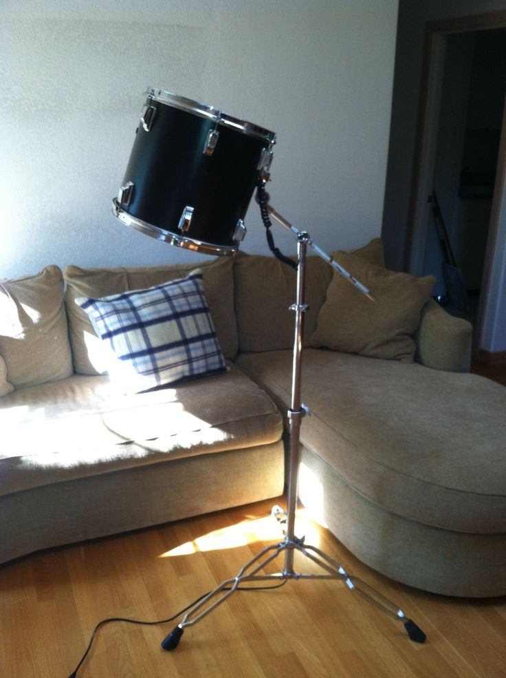 Repurposed Tom Tom Drum Floor Lamp This would be even