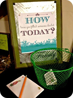 How have you filled someones bucket today? FHE lesson (This reminds me of my mis