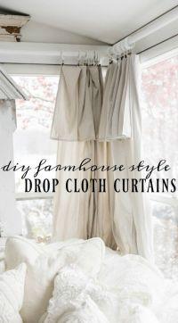 1000+ ideas about Diy Curtains on Pinterest | Drop cloth ...