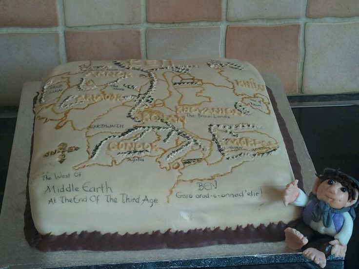 Lord of the rings map my sons birthday cake  Lord of the Rings Cake  Pinterest  Birthday