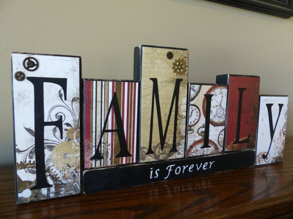 25 Best Ideas About Wooden Block Letters On Pinterest