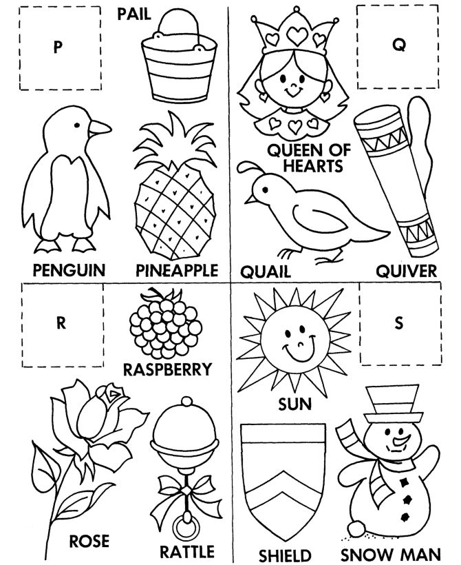 For Kindergarten Matching Words Coloring Point Sketch