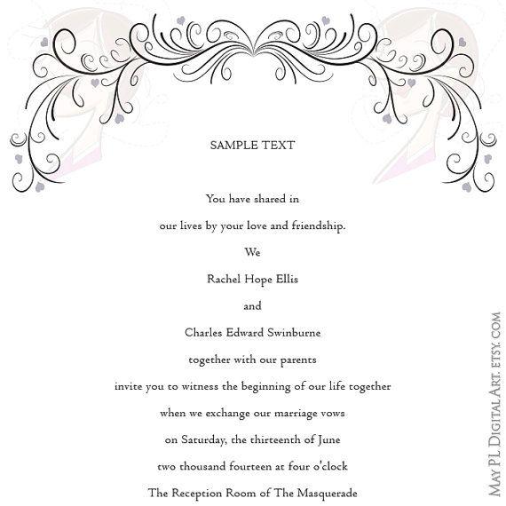 Wedding Swirl Clipart COMMERCIAL USE Retro Frames Flourish