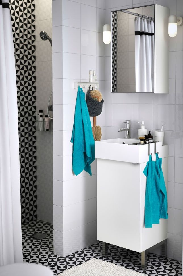 Small bathroom space Not a problem with the LILLANGEN