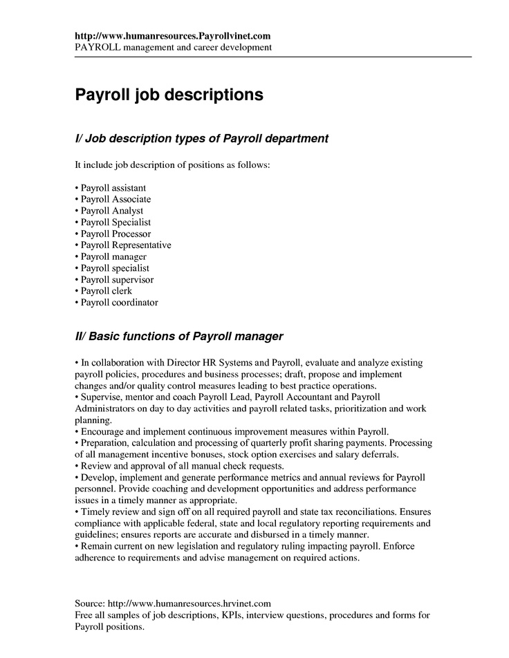 Payroll Interview Pinterest