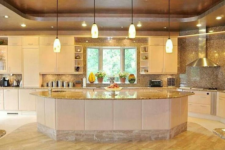 Nice big kitchen  For the Home  Pinterest  Nice and Kitchens
