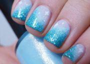 disney - frozen nail art l