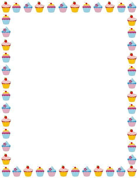 cup cakes border. frames