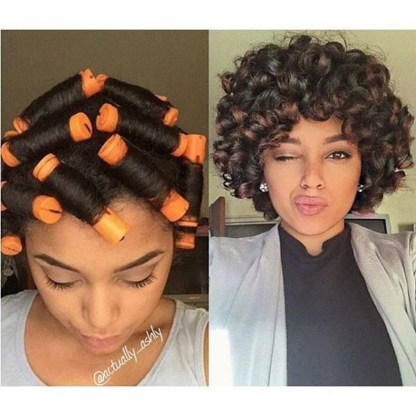 30 Natural Updo Hairstyles Using Perm Rods Hairstyles Ideas