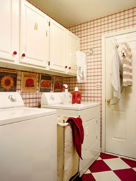 1000 ideas about Red Laundry Rooms on Pinterest  Laundry Rooms Laundry and Country Laundry Rooms