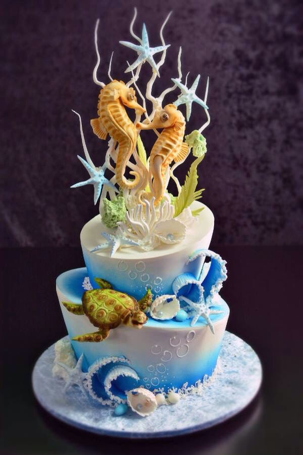 539 Best Images About Cakes Under The Sea On Pinterest