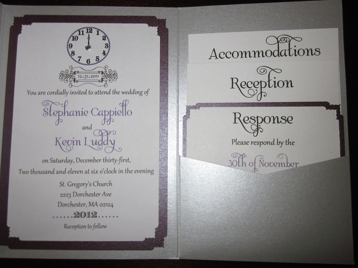 New Years Eve Wedding Invitation Wording PaperInvite