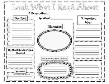 Common Core: Reading Graphic Organizers for Informational