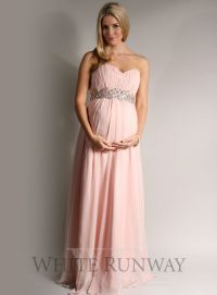 Grecian Strapless Bridesmaid Dress. Maternity Bridesmaid ...