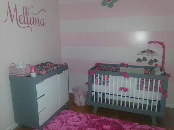 1000 images about Pink and grey rooms on Pinterest  Grey Nursery ideas and Baby girl rooms