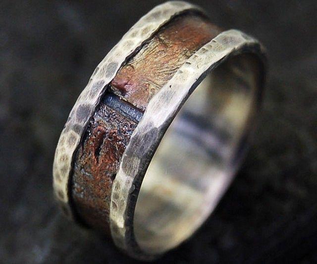 Rustic Mens Wedding Ring Bold Fashion And Ring