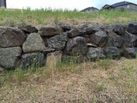 Natural stone retaining wall.   Russell Timberline Garden ...
