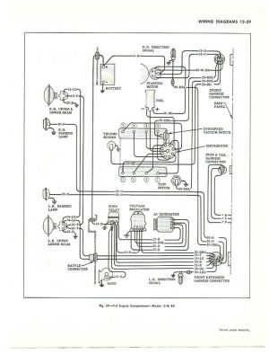 85 Chevy Truck Wiring Diagram | diagram is for large trucks but is similar to pick up truck
