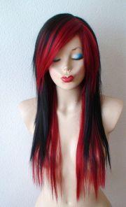 ideas black emo hair