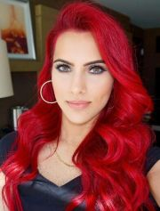 red dyed glam hair color bodmonzaid