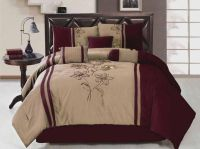 7-Piece King Size Comforter Set Embroidered Floral ...