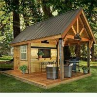 Party/Barbecue Shed for the back yard | Outdoor Living ...