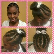 rope twist with donut #hair #style