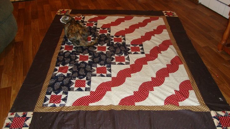 Stars and Stripes quilt by Mark Lipinski Quilt of Valor Link to pattern in Love of Quilting