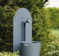 Garden tap galvanised cover & bucket.
