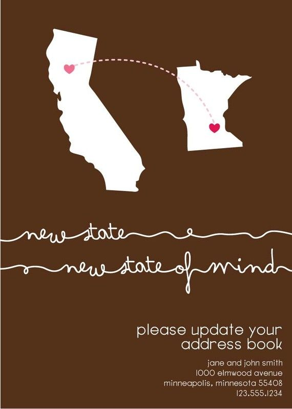 New State Of Mind Moving Announcement Moving