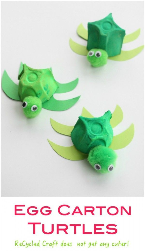 Egg Carton Turtle – such a cute recycled craft activity for kids. Easy to make and perfect with any Sea  – or under the sea theme!