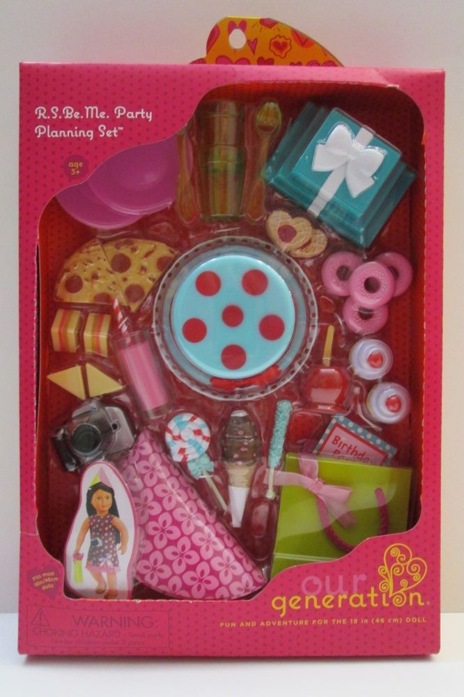 Our Generation R S Be Me Party Planning Accessory Set NIB