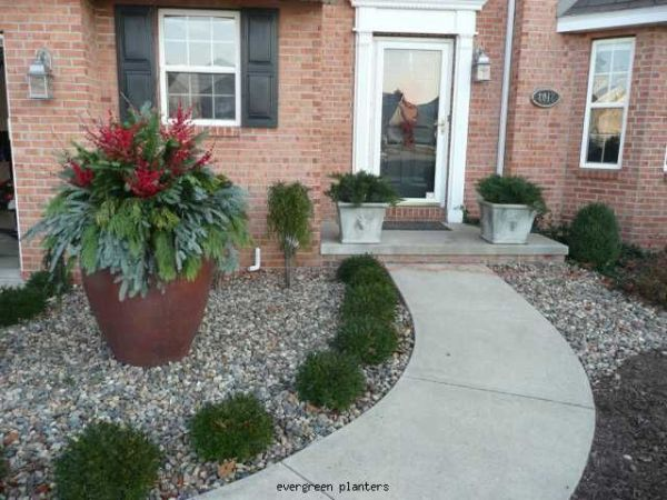 easy landscaping front porch