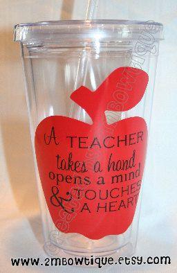 A Teacher Takes A HandTumbler Cup For Teachers Free