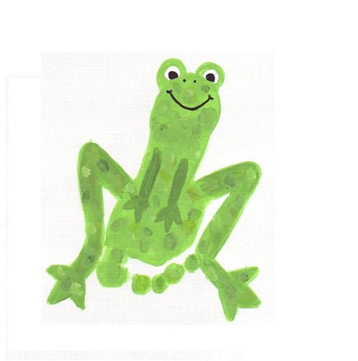 use your child's footprint to make a footprint frog. also make a footprint race