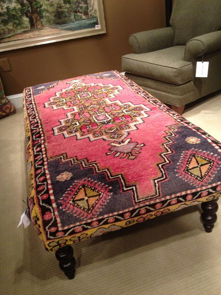 Rug upholstered ottoman  Furniture  Pinterest  Ottomans