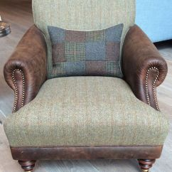 Wing Chair Recliner Leather Jazzy Power Used The Huntsman In Old Bard & Harris Tweed Loden Http://www.sofaworkshop.com/sofa/the ...