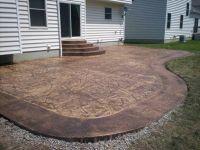 Colored Cement Patio   patio slate patio or cobblestone ...