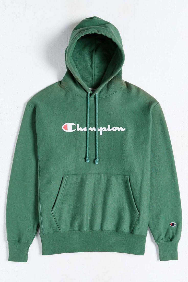 Champion Script Reverse Weave Hoodie Sweatshirt  Urban outfitters Sweatshirts and Scripts