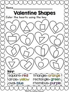 Kindergarten common core, Shape and Valentines on Pinterest